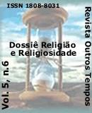 Visualizar v. 5 n. 6 (2008): Dossiê: Religião e Religiosidade
